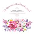 floral frame summer greeting card flower bouquet vector image