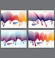 fluid flow wavy abstract colorful backgrounds set vector image vector image