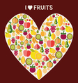 Fruits background - vector image