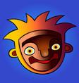 funny cartoon head colorful vector image vector image