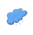 Funny cloud cartoon vector image