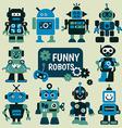 Funny robots set vector image