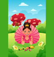 girl wearing tutu and crown vector image