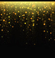 gold glitter stardust background vector image vector image