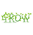 grow concept vector image