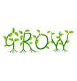 grow concept vector image vector image