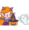 halloween kids cartoons vector image vector image