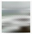Hexagonal headers set sea landscape blurred vector image