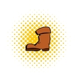 High boots comics icon vector image