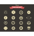 Hipster lables badges and elements vector image vector image