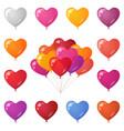 holiday balloons set vector image