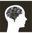 human brain icon vector image vector image