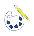 icon of school palette vector image