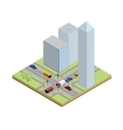 Isometric crossroad in city vector image vector image