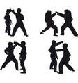 kid karate kumite vector image vector image