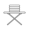 laundry ironing board and clothes housekeeping vector image