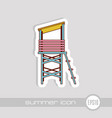 lifeguard tower icon summer vacation