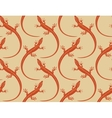 lizards seamless wallpaper pattern vector image