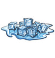 melted ice cubes vector image