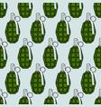 military grenade pattern vector image vector image