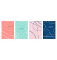 minimal abstract geometric covers set vector image vector image