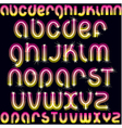 neon font vector image vector image