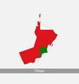 oman map flag vector image