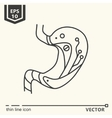 One icon Artificial stomach vector image vector image