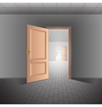Open door leads to a bright future vector image vector image