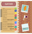 Qatar infographics statistical data sights Fort vector image vector image