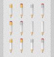realistic white empty wood sharp pencil vector image vector image