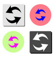 refresh reload flat icon vector image vector image