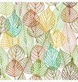 seamless pattern autumnal leaves vector image