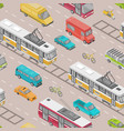 seamless pattern with motor vehicles various vector image vector image