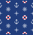 seamless sea pattern vector image vector image