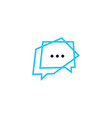 secure message chat bubble logo icon element vector image vector image