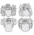 set of aristocratic emblems No10 vector image vector image