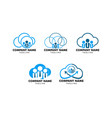 set of cloud job logo icon design vector image