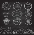 Set of different logotype templates for fruit vector image