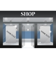 Shop Front Exterior horizontal windows empty for vector image