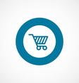 shopping cart bold blue border circle icon vector image vector image