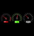 speedometer scales on black background vector image