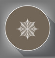 spider on web white icon on vector image vector image