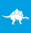 stegosaurus dinosaur icon white vector image vector image
