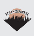 strange forest silhouette vector image vector image