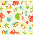 summer theme seamless pattern surfboard hawaii vector image vector image