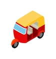 Thai taxi tuktuk icon isometric 3d style vector image vector image