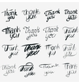 Thank you calligraphic inscription set vector image vector image