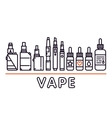 Vape shop isolated template graphic line vector image