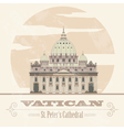 Vatican landmarks Retro styled image vector image vector image